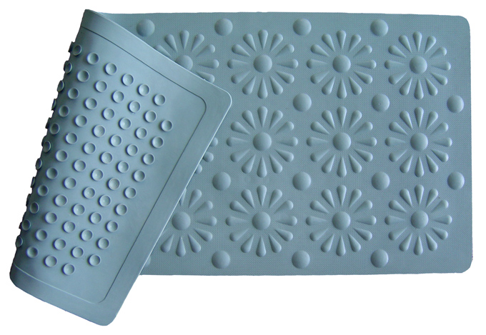 Non Slip Shower Mat With Chrysanthemum Design